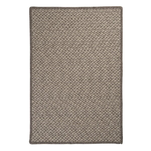 Natural Wool Houndstooth Braided Latte Area Rug by Colonial Mills