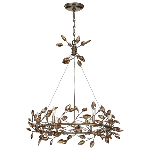 Bosley 6-Light Unique / Statement Wagon Wheel Chandelier by Everly Quinn Everly Quinn