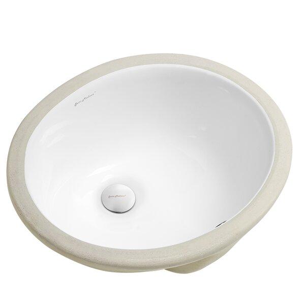 Plaisir® Ceramic Oval Undermount Bathroom Sink with Overflow by Swiss Madison