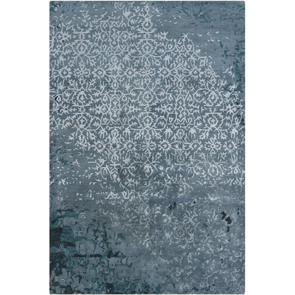 Powell Handmade Blue Area Rug by 17 Stories