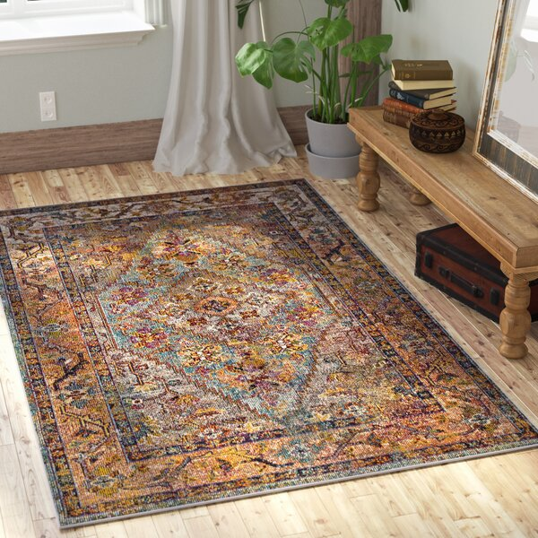 Timpson Orange Area Rug by World Menagerie