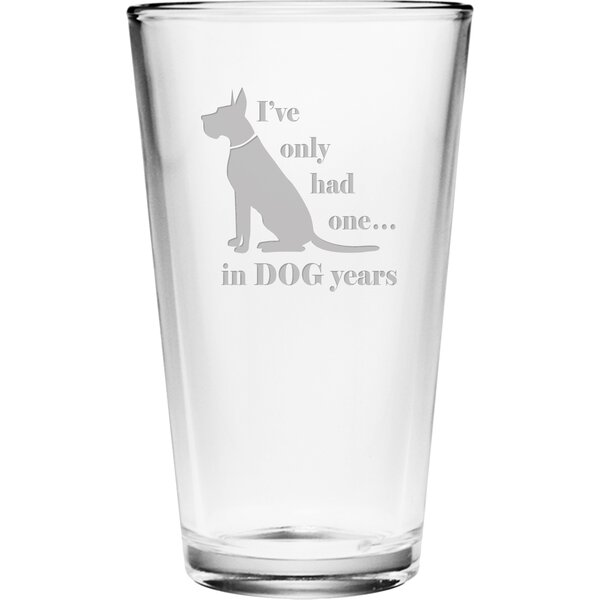 Dog Years Pint Glass (Set of 4) by Susquehanna Glass