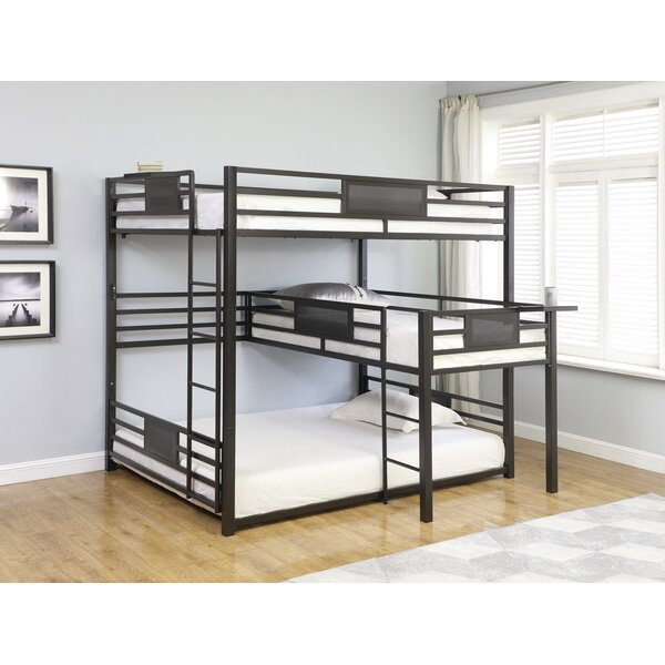 Stainforth Queen Over Twin Over Queen Triple Bunk Bed by 17 Stories