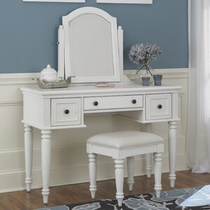 Harrison Vanity Set with Mirror by Beachcrest Home
