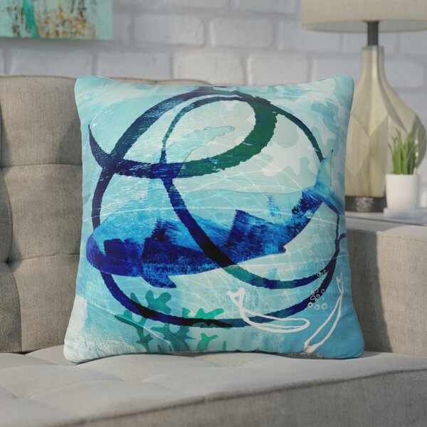 Girouard Ocean Swirl Outdoor Throw Pillow by Brayden Studio