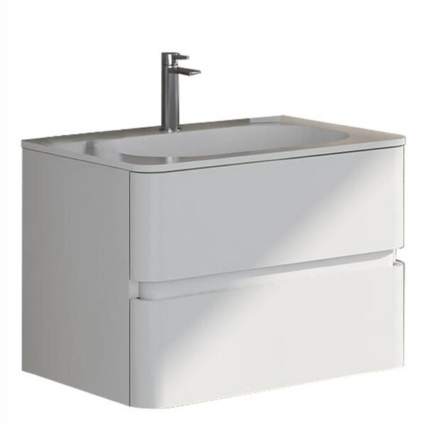 Oskar 24 Wall-Mounted Single Bathroom Vanity Set by dCOR design