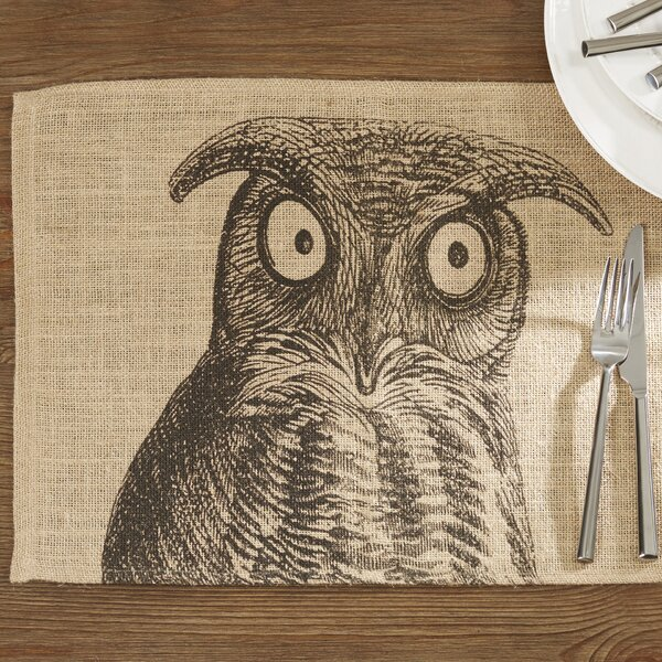 Hilgard Burlap Placemat (Set of 4) by Loon Peak