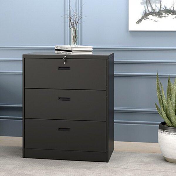 Anti-Tilt 3-Drawer Vertical Filing Cabinet