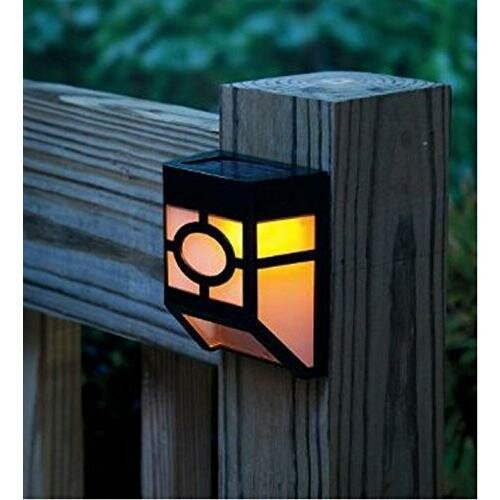 Solar Powered 1-Light Fence Post Cap (Set of 4) by