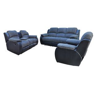 Concord 3 Pieces Reclining Living Room Set by Red Barrel Studio®