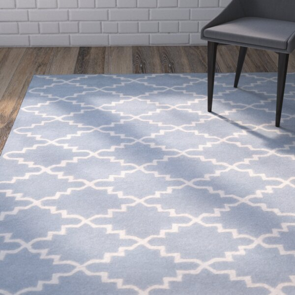 Wilkin Blue & Ivory Area Rug by Wrought Studio