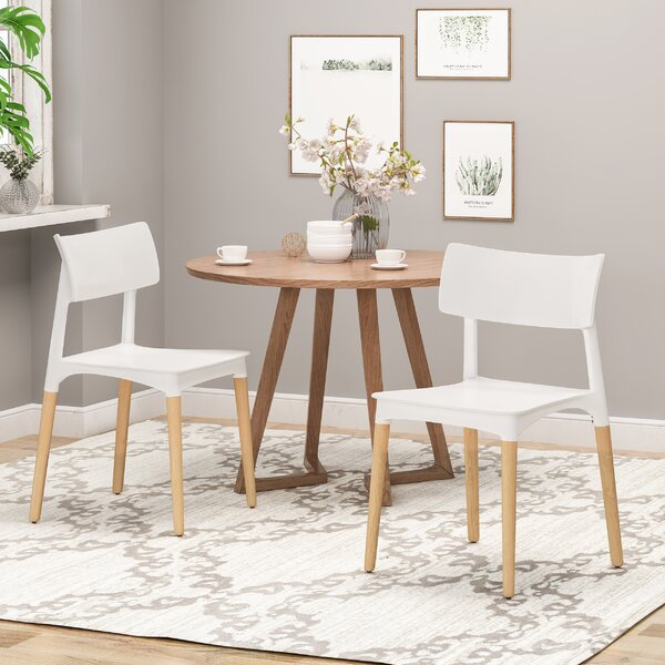 Bohrer Solid Wood Dining Chair (Set of 2) by Corrigan Studio