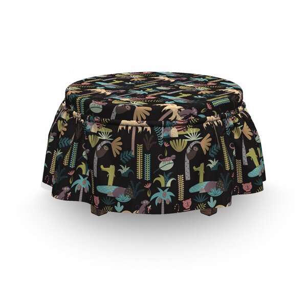Tropical Island Nature Ottoman Slipcover (Set Of 2) By East Urban Home