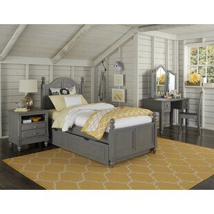 Inexpensive Javin Twin Panel Bed with Trundle ByHarriet Bee
