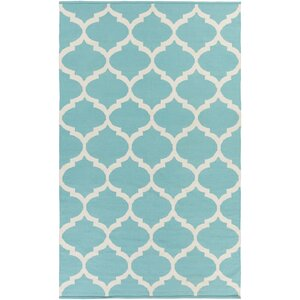 Bohannon Geometric Blue Area Rug
