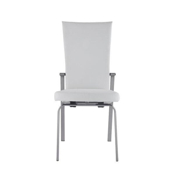 Molly Leather Upholstered Dining Chair (Set of 2) by Orren Ellis Orren Ellis