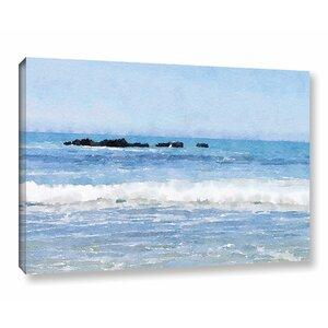 'Foggy Ocean 2' Print on Canvas by Breakwater Bay