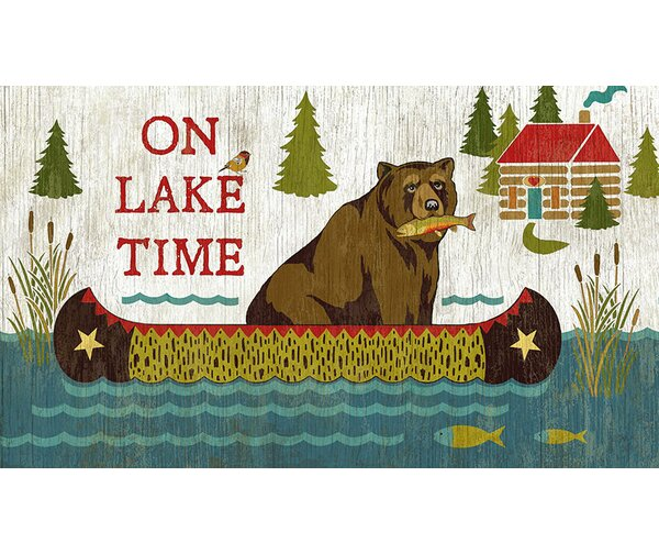 On Lake Time by Suzanne Nicoll Graphic Art Plaque by Millwood Pines