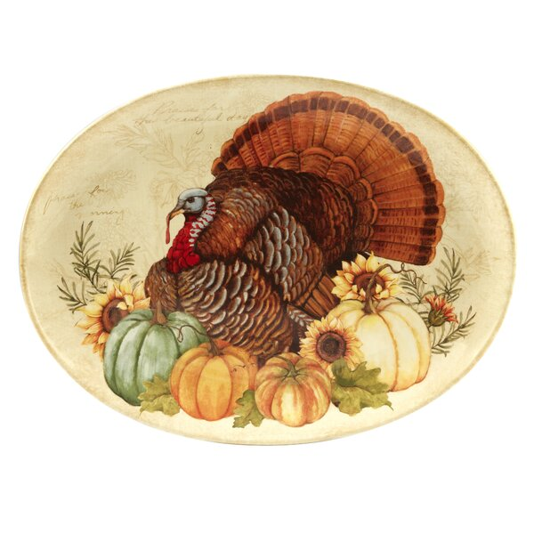 Layla Oval Turkey Platter by The Holiday Aisle
