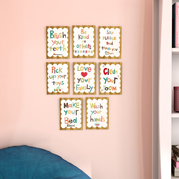 Juergens 8 Piece Good Manners Wall Card Set by Viv + Rae
