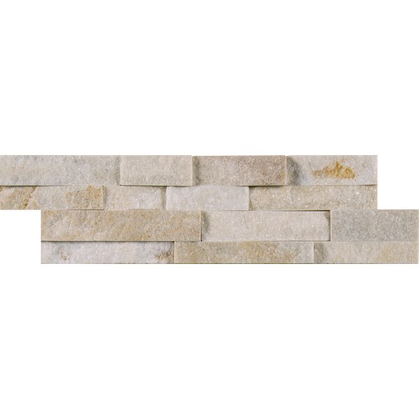 Arctic Golden Natural Stone Mosaic Tile in White by MSI