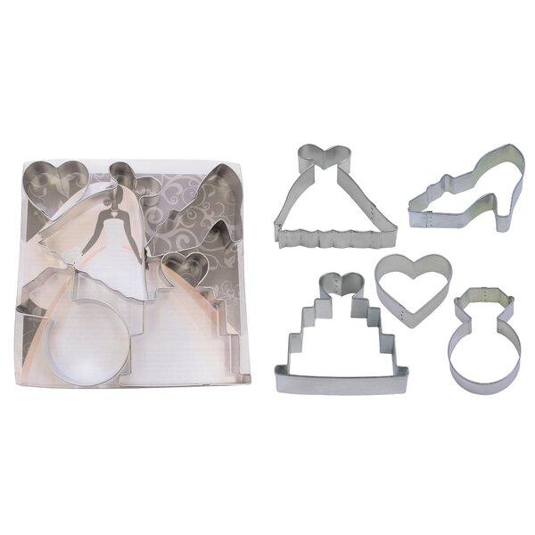 Bridal 5 Piece Cookie Cutter Set by R & M International Corp.