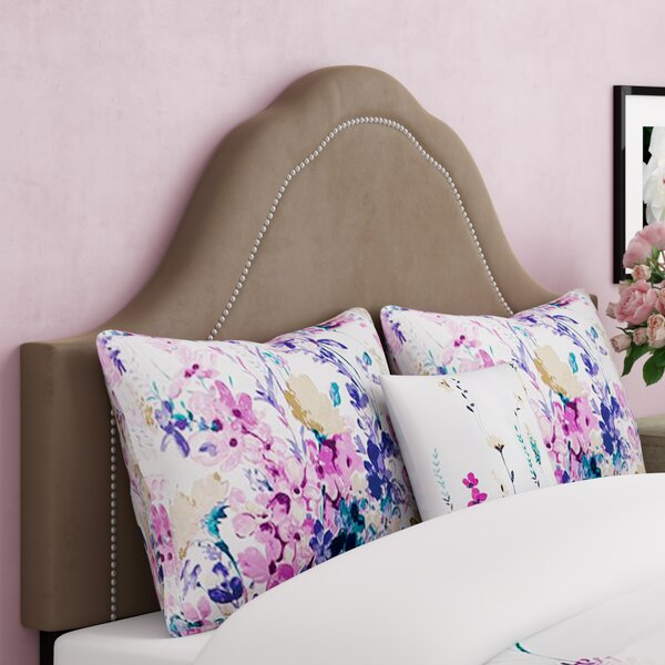Brunella Arch Inset Nail Button Upholstered Panel Headboard by Willa Arlo Interiors