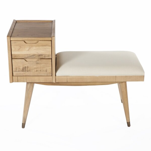 Upholstered Storage Entry Bench by dCOR design