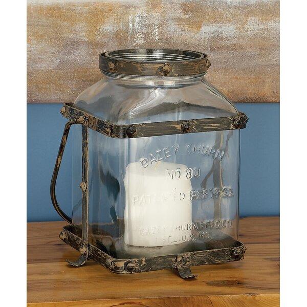 Glass and Iron Lantern by Breakwater Bay