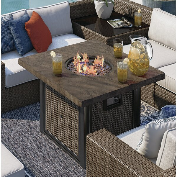 Barnfield Aluminum Propane Fire Pit Table by Bloomsbury Market