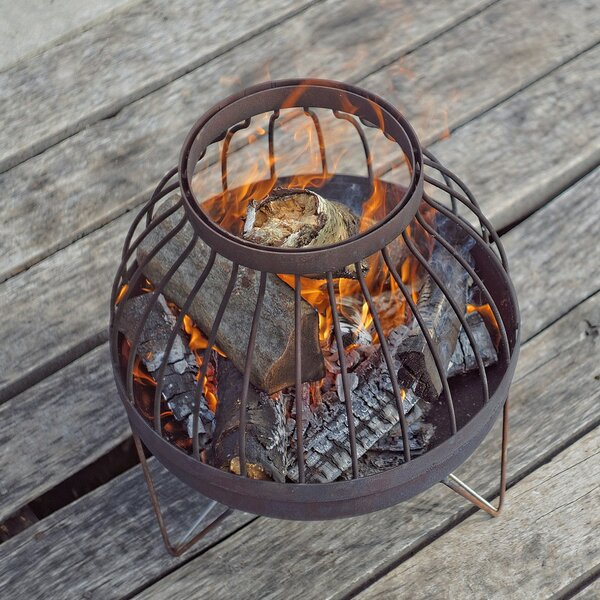 Nida Solid Steel Wood Burning Fire Pit by Curonian