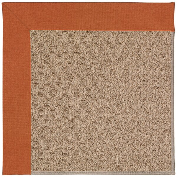 Lisle Machine Tufted Orange/Brown Indoor/Outdoor Area Rug by Longshore Tides