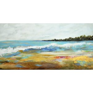 'Beach Surf II' Painting Print on Wrapped Canvas by Marmont Hill