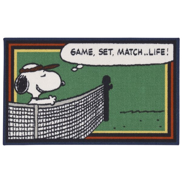 Peanuts Tennis Doormat by Nourison