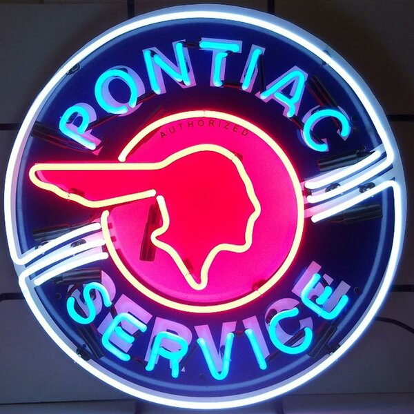 Pontiac Service Neon Sign by Neonetics