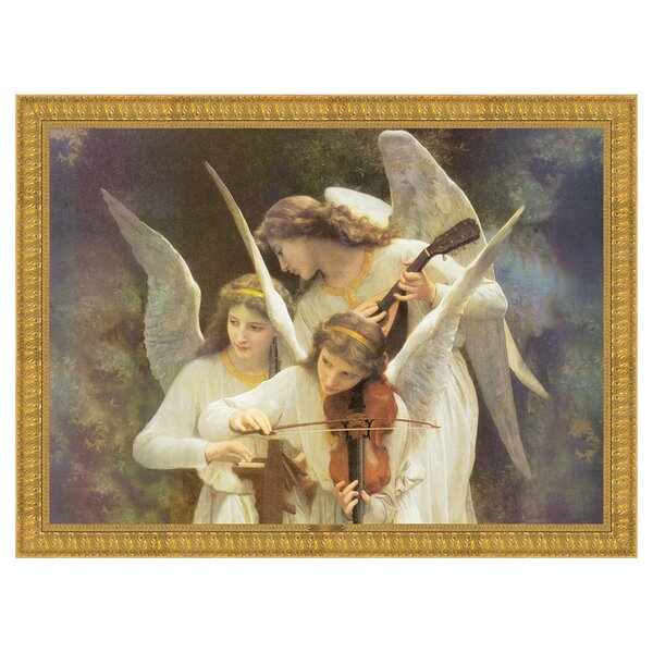 Song of the Angels Classic Reproduction by William Adolphe Bouguereau Framed Painting Print by Design Toscano