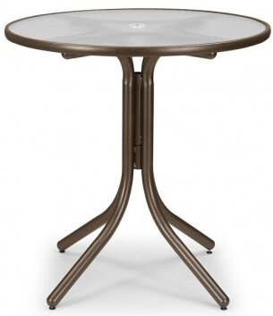 Glass 36 Round Balcony Height Dining Table by Telescope Casual