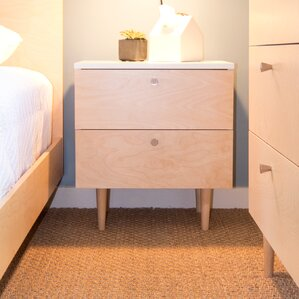 Ulm 2 Drawer Nightstand by Spot on Square