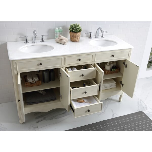 Genevieve 60 Double Bathroom Vanity Set by One Allium Way