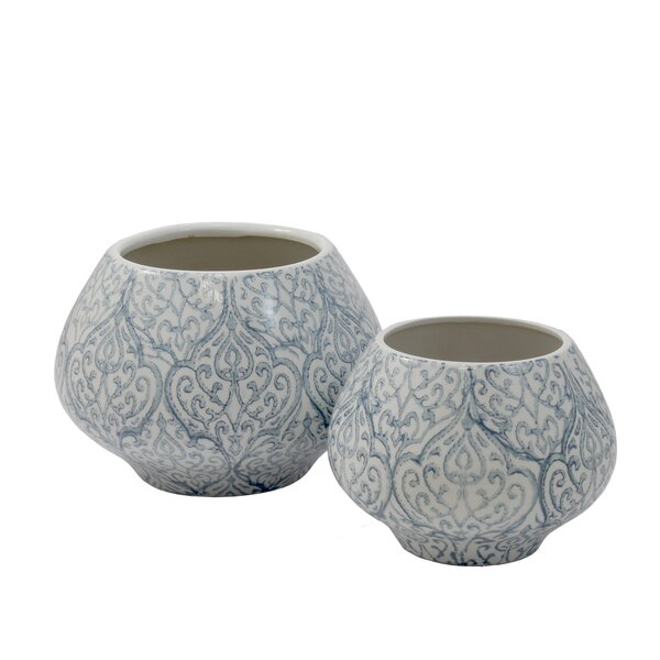 Asnee 2-Piece Ceramic Pot Planter Set by Selectives