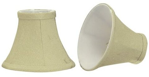 6 Fabric Bell Candelabra Shade (Set of 2) by Aspen Creative Corporation