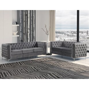 Younkin 2 Piece Standard Living Room Set by Everly Quinn