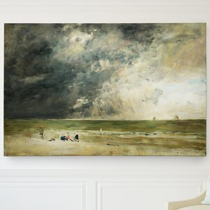 'The Beach at Trouville' by Claude Monet Painting Print on Wrapped Canvas by Wexford Home