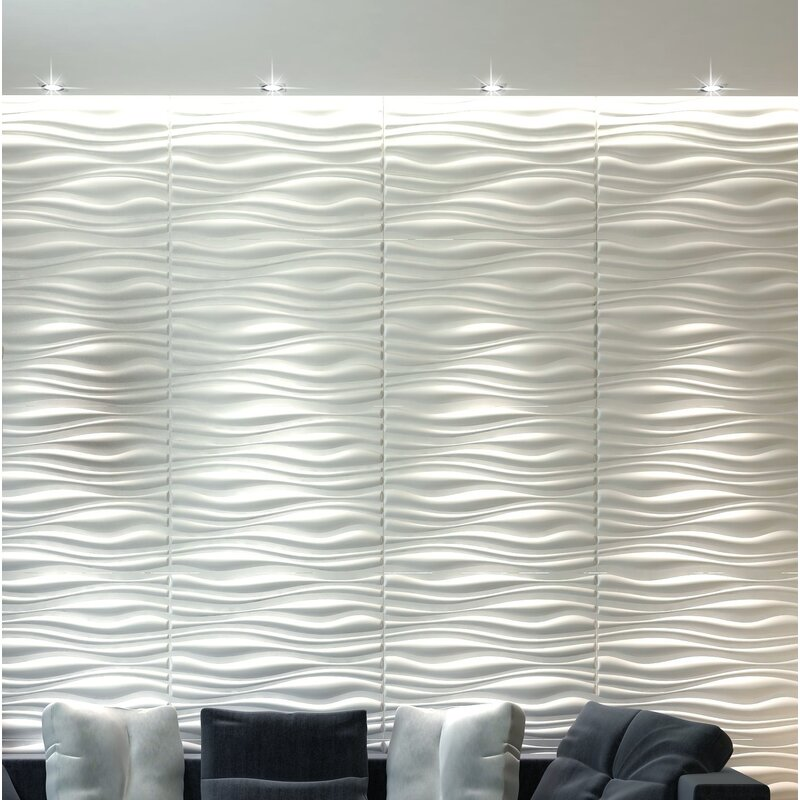 Orren Ellis 20 X 20 Vinyl Wall Paneling In Gloss White Wayfair