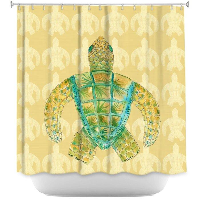 Highland Dunes Hulsey Sea Turtle Shower Curtain