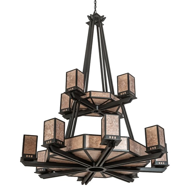 Cullompt 24 - Light Unique / Statement Tiered Chandelier by Loon Peak Loon Peak