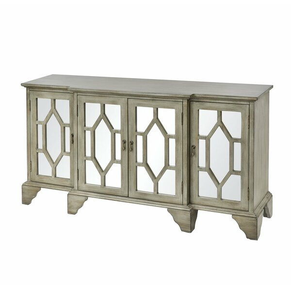 Chullora 4-door Cabinet In Antique Grey by World Menagerie World Menagerie