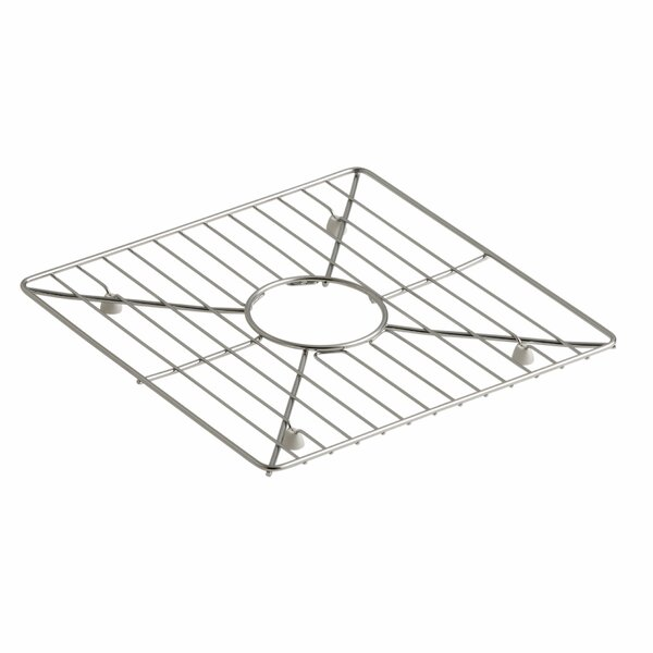 Poise Stainless Steel Sink Rack, 13-3/16 x 13-3/16, for Kitchen and Bar Sinks by Kohler