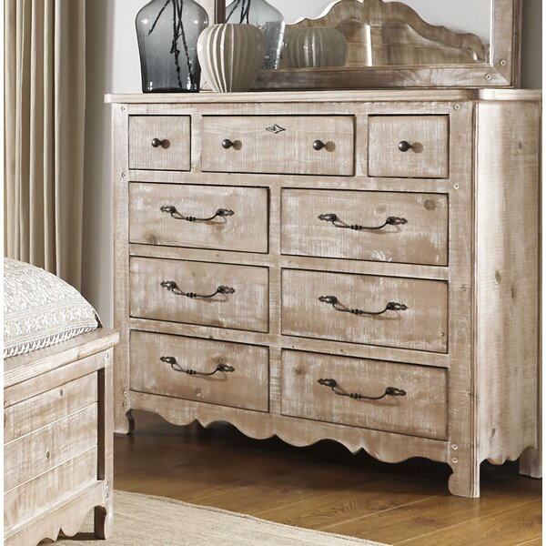 9 Drawer Double Dresser by Feminine French Country