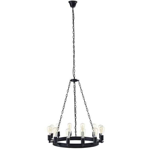 Layla 12 - Light Candle Style Wagon Wheel Chandelier by Williston Forge Williston Forge